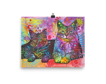 Devoted 2 Cats Open Edition Print