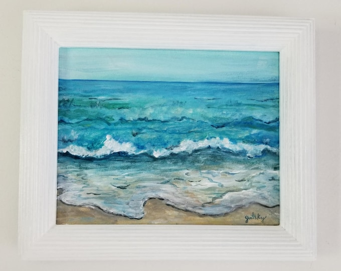 Escape - Ocean Original Framed Painting Free Shipping USA