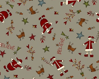 Believe by Janet Rae Nesbitt of One Sister Designs for Henry Glass Fabrics, Fabric by the yard, 2079-11
