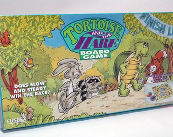 Tortoise and the Hare Board Game from Fundex 1993 COMPLETE