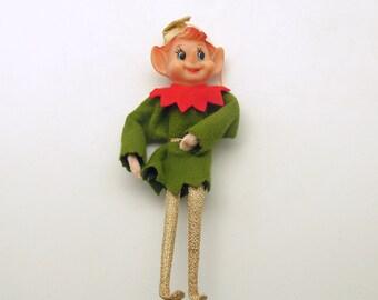 Vintage Christmas Pixie Elf Christmas Ornament Good Luck
