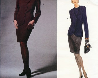 UNCUT Vogue American Designer Geoffrey Beene Pattern 1259 Misses Jacket & Skirt 6-10