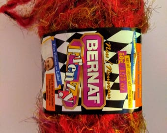 Bernat Frenzy Yarn Racy Red