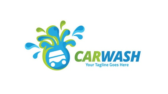 car wash logo eco car wash car laundry logo car laundry rh etsy com car wash graphic design car wash graphic design