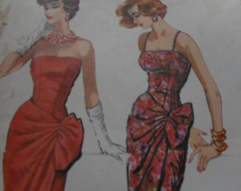 Vintage 1950's McCall's 4425 Evening Dress Sewing Patterns Size 12 Bust 32