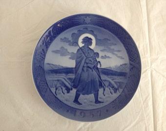 Royal Copenhagen 1957 Christmas Plate The Good Shepherd