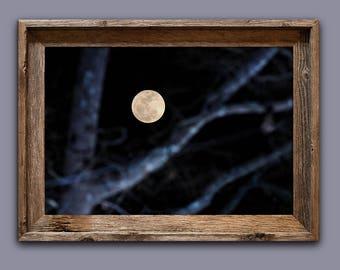 Moon Photo / Moon Print / Moon Art / Bedroom Wall Art / Fine Art / Nature Photography / Moon Photography / Moon Wall Art / Night Sky Art