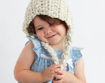 Baby Pixie Hood in Ivory