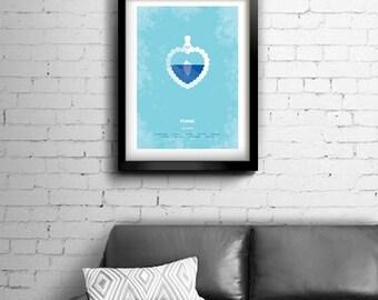 Titanic - alternative, minimalist movie poster, James Cameron, art print, home decor