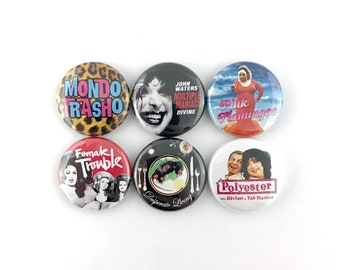 "John Waters Mini-Poster Collection - 1"" Button Pin Set"
