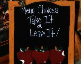 Apples Chalkboard Personalized Apple Home Decor Kitchen Wall Sign