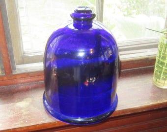 cobalt blue cloche glass dome garden dome