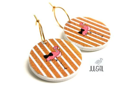 Gold plated and wood Flamingo bow juletfil ©