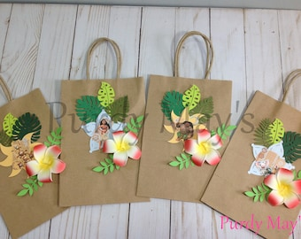 Moana Birthday, Moana, Birthday, Party Favors, Disney, Luau, Paper Bags, Party Decorations, Bags, Party, 1st Birthday, First Birthday