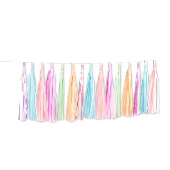 Mythical Tales Tassels, Tissue Tassels, Tassel Banner, Birthday Party Decor, DIY Tassels, Girl, Fantasy, Unicorn Magical Baby Shower