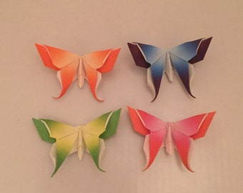 Set of Four Origami Butterflies