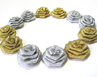 Diamond and Gold Dusted Rose Drops - (6)