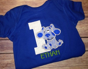 Personalized BLUES CLUES Birthday Shirt