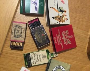 Vintage match boxes (includes matches)