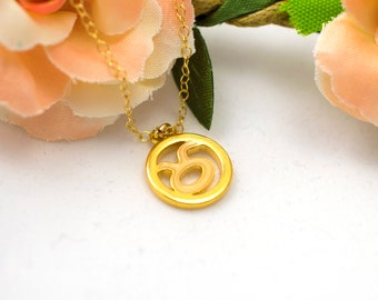 Taurus Necklace,  Zodiac Necklace,  Taurus Jewelry, Taurus Zodiac Zodiac Jewelry Astrology Jewelry,April Birthday, gift for her, spring