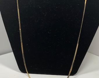 Vintage Monet flat gold toned chain