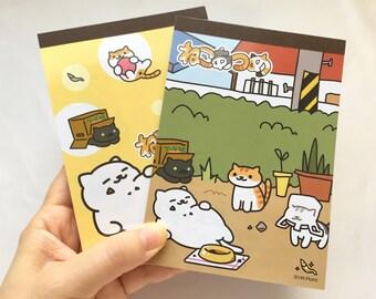 Neko Atsume Memo Pad - Kitty Collector - Garden or Tubbs Cover