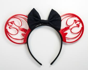 """3D Printed Disney Mouse Ears - Mickey Ears - Minnie Mouse Ears / """"Interplanetary Conflicts"""""""