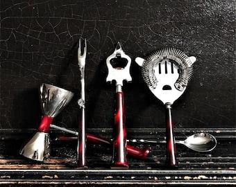 Vintage Bar Tool Set | Bar Tools | Bar Utensils | Barware