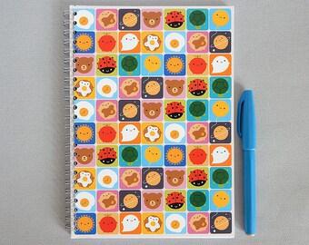 Look Around Kawaii Notebook - Spiral Bound