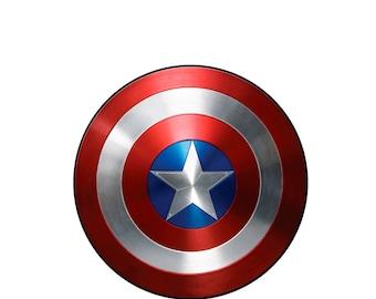 Captain America Shield Inspired Superhero Costume Logo Iron On Transfer or Shirt