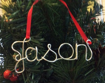 Personalized Family Ornament,Jason ornament,Personalized Ornament ,Sarah ornament,Personalized Christmas ornament, first Christmas