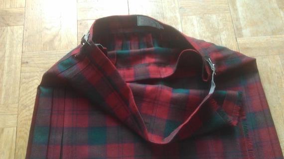 Industries Mens Vintage Leather Highland Red Skirt Plaid Home Belt Red Size Original Kilt 20 Kilt Wool Tartan Skirt Scotland 90's t0PqxZw