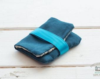 Sapphire USB Velvet & Lace Pouch