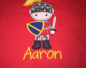 Knight Applique Shirt Birthday - Knight Birthday Party - Princess Brother Shirt - Knight in Armour