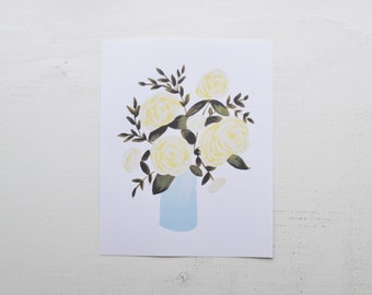 Yellow Rose Bouquet Print