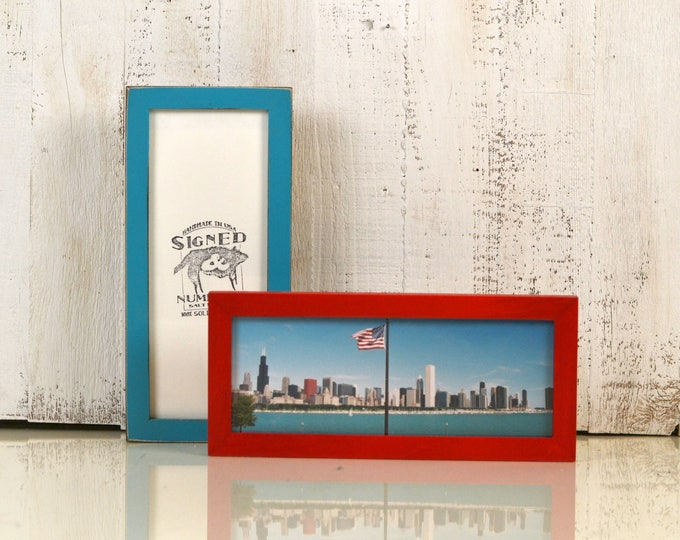"""4x10"""" Picture Frame for Photo Booth strip or Panoramic Photo in Peewee Style and Color of Your Choice - 2x8 Photo Frame - Panoramic Frame"""