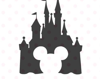 Disney Castle svg, Disney Castle Silhouette, Disney Castle with Mickey head, Disney files for Cricut and Silhouette, Disney vector clipart