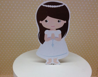Girls First Communion Party Cake Topper Decoration