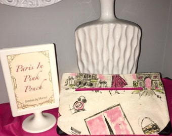 Paris in Pink pouch