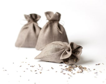 Rustic wedding favor bags - linen gift bags - small drawstring bags - thank you bags - linen favor bags