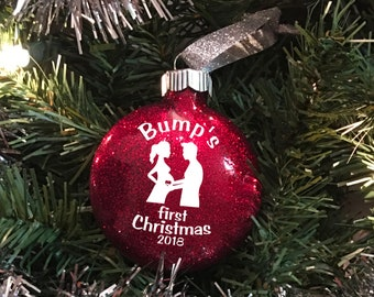 Bumps first christmas - Pregnant mom gift - Pregnant gift - Pregnant christmas ornament - Pregnancy announcement ornament - Baby bump reveal