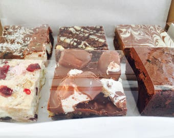 Chocolate Brownie, Flapjack, Tiffin, Rocky Road Traybake Gift Box Hamper - Chocolate Box