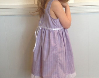 Summertime Upcycled Shirt Dress- size 4T/5T
