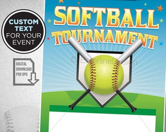 softball tournament softball theme softball birthday invitation softball party softball flyer