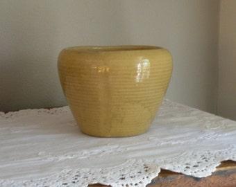 Vintage Yellow Ware Planter Bowl