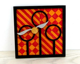 Harry Potter Quidditch Hoop Inspired Wall Plaque Geeky Book Gifts and Decor