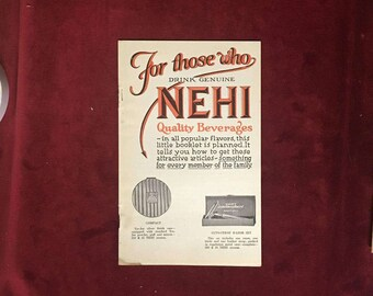 Vintage NEHI Soda Bottling Company Premiums Illustrated Advertising Booklet