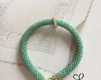 Beaded Crochet Friendship Bracelet