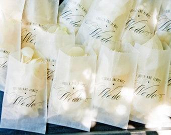 Glassine Toss Bags - DIY Wedding Exit - We Do Design - Rose Petal Exit Shower - Pack of 20 bags