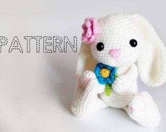Amigurumi Flower Tutorial : Sale easter bunny crochet patterns amigurumi animals crochet